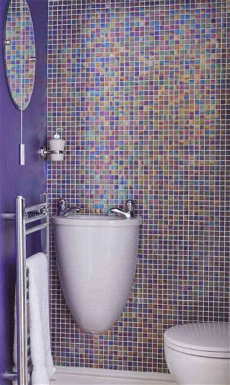 floor to ceiling purple mosaic bathroom tiles bathroom 5 techniques to use blue color in bathroom tile design