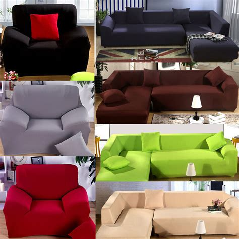 Cover For L Shaped by 1 2 3 4 Seater L Shape Loveseat Chair Stretch Sofa