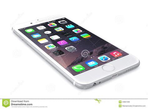 apple silver iphone  editorial image illustration  illustrative