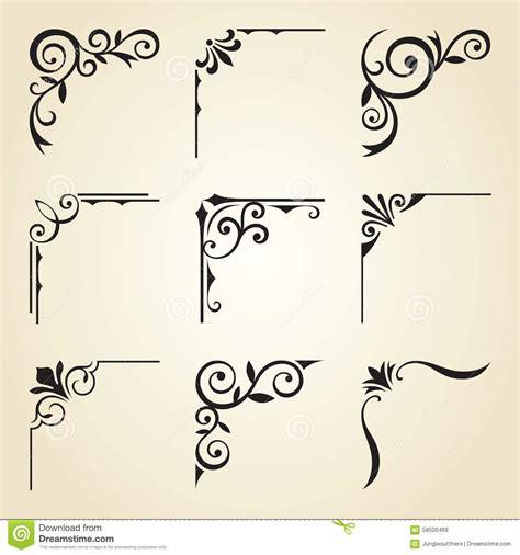 Corner Photo Frames decorative corner frames stock vector image of ornate