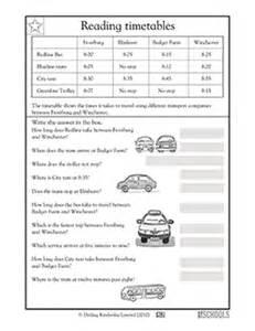 3rd grade math worksheets reading timetables greatschools