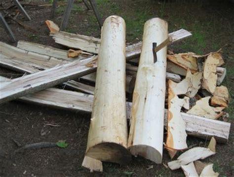 splitting logs  woodworking lumber