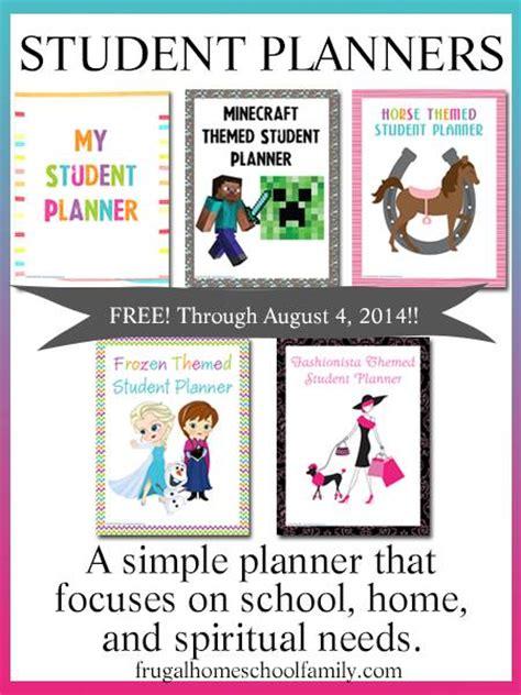 printable homeschool student planner free printable frozen minecraft homeschool student