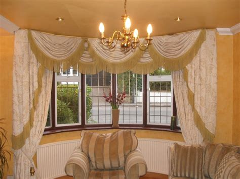 curtains for round bay windows curtains swags tails round bay window yelp