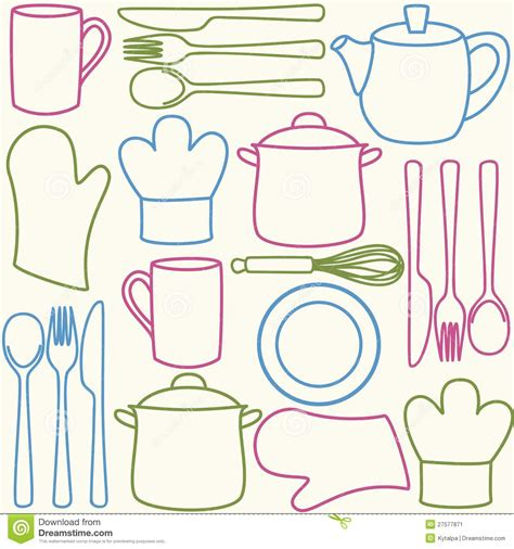 kitchen pattern vector free kitchen utensils seamless pattern stock vector