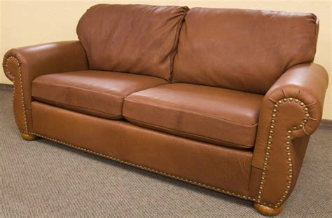 Made Sofas by Custom Bison Leather Tobacco Sofa By Dakota Bison