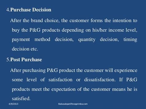 Closing The Mba Decision by Procter Gamble Marketing Strtergy Mba Ppt Of Marketing