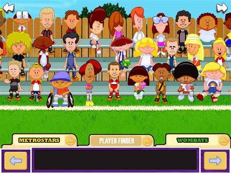backyard soccer players from the nosebleeds backyard soccer the ons gaming