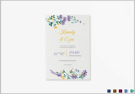 Wedding Announcements Templates by 14 Psd Wedding Announcement Templates Editable Psd Ai