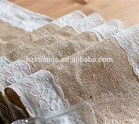shabby chic table runner shabby chic burlap lace hessian jute table runner