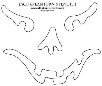 free printable scary jack o lantern stencils pumpkin patterns or stencils for crafts or pumpkin carving