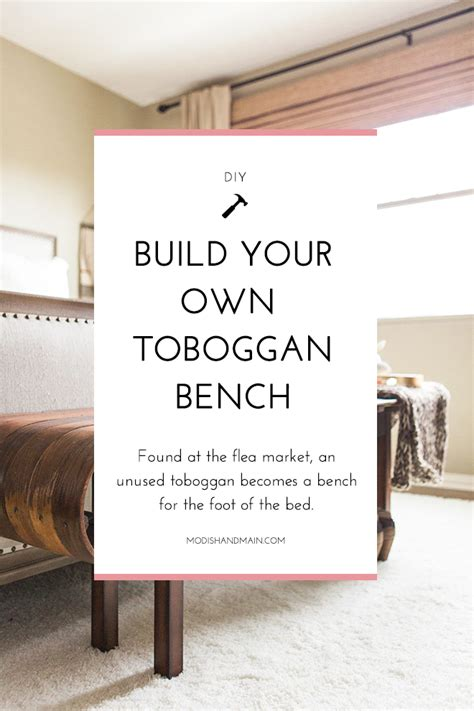 build your own bench build your own toboggan bench modish main