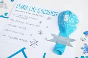 free frozen printable invitation
