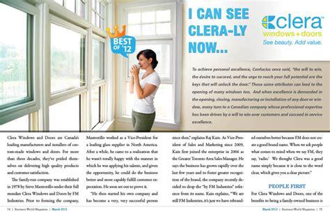 Window And Door Magazine by Clera Windows And Doors Business World Magazine
