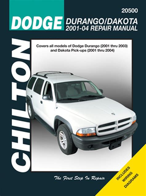 car repair manuals download 2004 dodge dakota club interior lighting dodge durango dakota chilton repair manual 2001 2004 hay20500