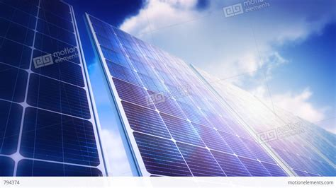 solar panels sky panorama loop stock animation 794374