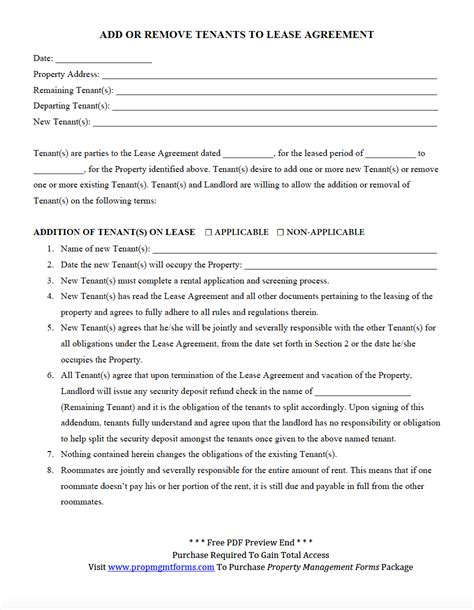 lease agreement in pdf add or remove tenants to lease agreement pdf property