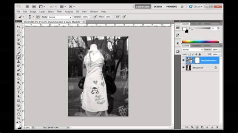 photoshop cs5 masking tutorial video selectively color a b w image with layer masks photoshop