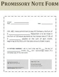 promissory note template canada printable sle simple promissory note form real estate