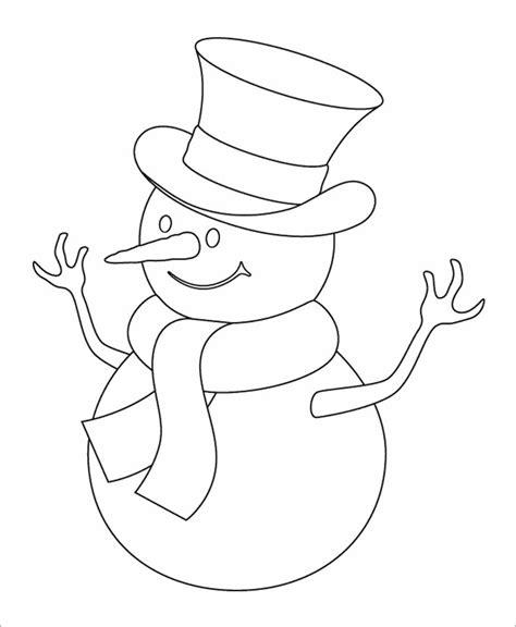 snowman coloring page free snowman template snowman crafts free premium templates