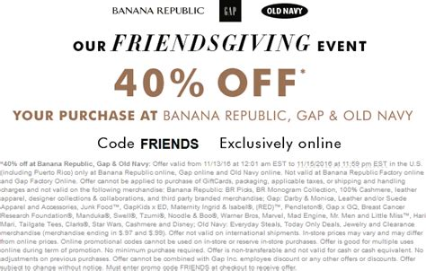 old navy coupons friends and family old navy coupons 40 off online at old navy gap