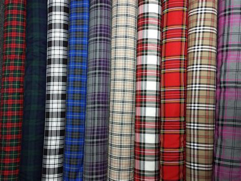 plaid curtain fabric tartan plaid check craft quilting designer curtain