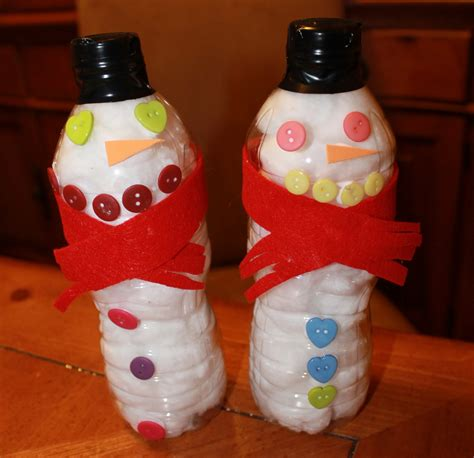 water bottle crafts for w food waffle snowman