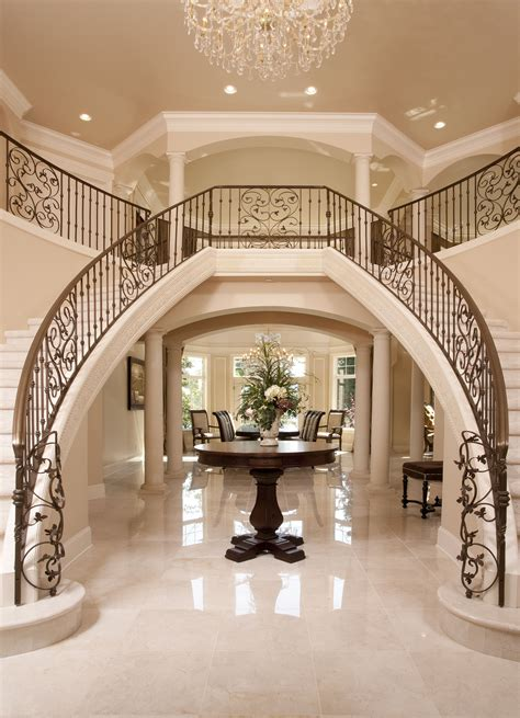 Luxury Home Stairs Design Luxury Iron Banister Dual Staircase Grand Entryway Home Is Where The Is