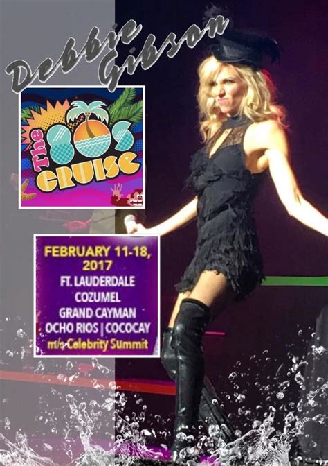 80s Cruise by Join Me On The 80 S Cruise Debbie Gibson