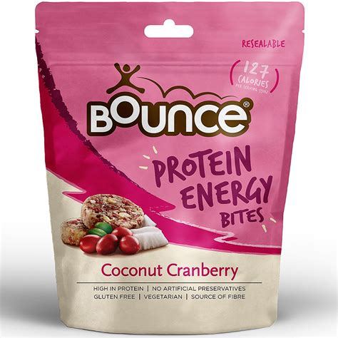protein energy bites bounce protein energy bites coconut cranberry 90g