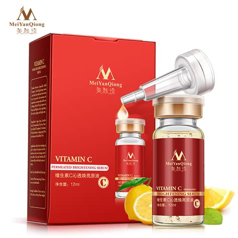 Oubei Whitening Anti Spot Removing vitamin c premeated brightening serum to remove spots whitening anti wrinkle