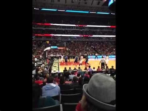 section 113 united center united center section 113 row 7 youtube