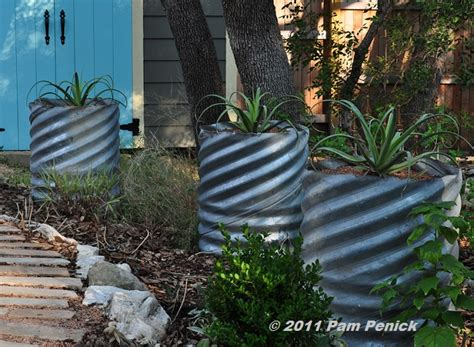 Culvert Pipe Planters by Galvanized Trough Planter Seattle