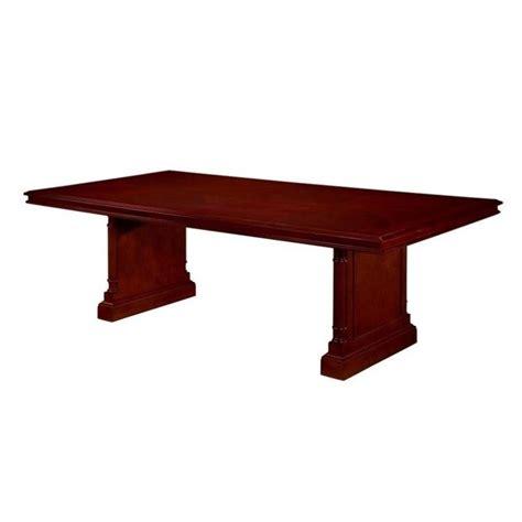 Rectangular Conference Table Dmi Keswick Rectangular 8 Conference Table With Slab Base In Cherry