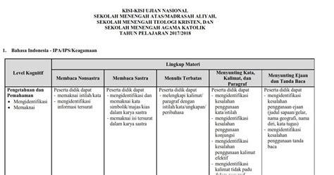 Detik Usbn Sma Sosiologi 2017 2018 kisi kisi usbn dan un tahun pelajaran 2017 2018 info pendidikan indonesia