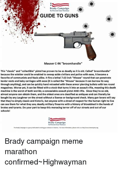 brady caign to prevent gun violence search background check memes on me me
