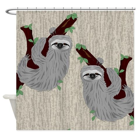 sloth shower curtain sloth shower curtain by ellejai