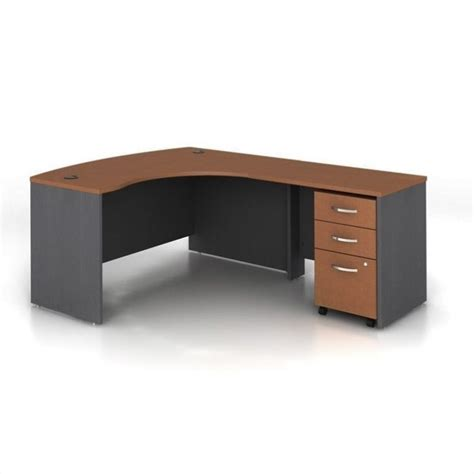 right hand corner computer desk bush business series c 3 piece right hand computer bow