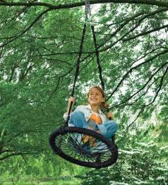 Best gifts for 8 year old boy round outdoor swing by hearthsong