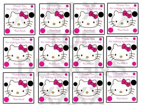 printable hello kitty tags hello kitty gift tags party ideas pinterest