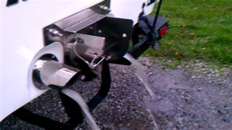 ski boat exhaust manifolds malibu sunsetter with 4 quot stainless marine exhaust youtube