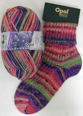 Jumper Tangan Pendek 4 Jumper 4 Socks 9 Bulan Baby M yarn 6ply sock and jumper knitting yarn 150 g 430 meter opal nr 4940 march garden