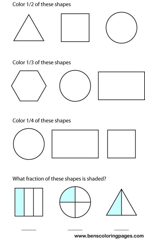 fraction coloring sheets to print this handout click on the image below