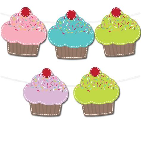 printable cupcake images free printable cupcake banner printable party decor