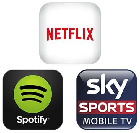 vodafone  entertainment  netflix spotify  sky sports