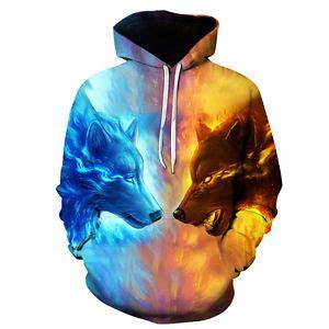 Sweater Jaket Hoodie 3d 3d hoodie print animal wolf sweatshirt hoodies