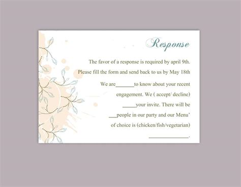 Response Cards For Wedding Template by Rsvp Card Template Word 28 Images Printable Wedding