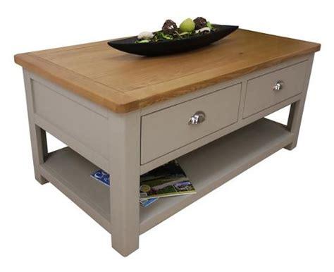 oak coffee table with storage buy aspen painted grey oak coffee table with storage