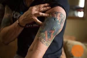cat tattoo wrestler commercial professional wrestling legend and ddp yoga innovator