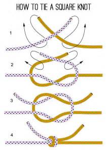 how to tie a square knot survival